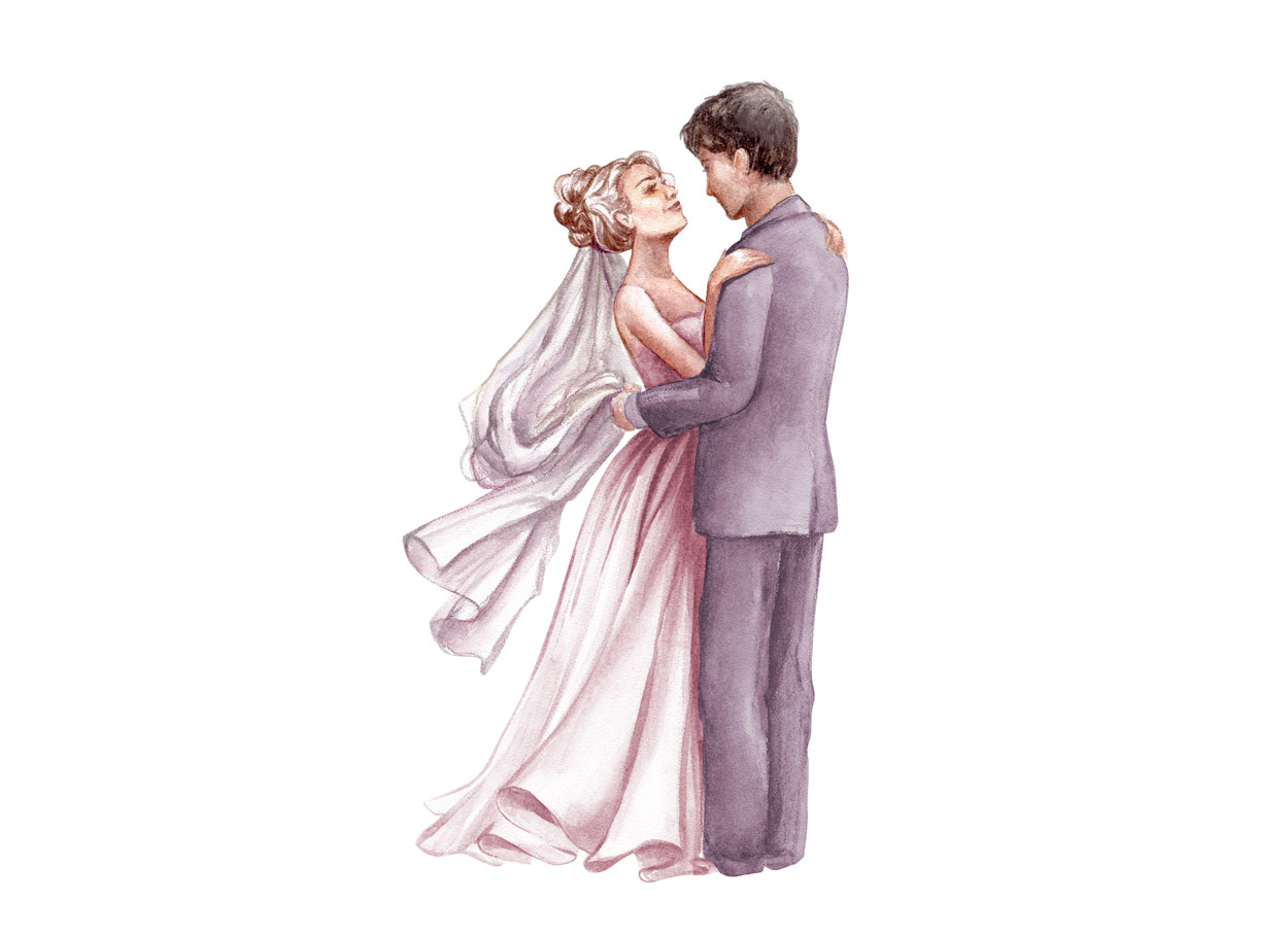 Il matrimonio in stile Watercolor