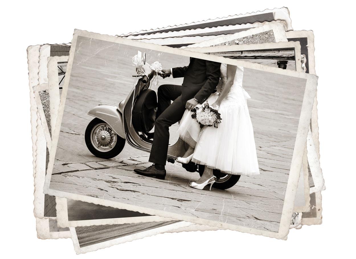 Il matrimonio a tema anni '50