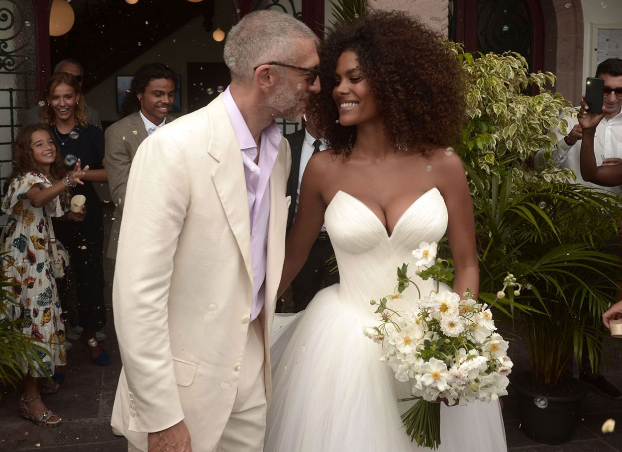 Il matrimonio tra Vincent Cassel e Tina Kunakey