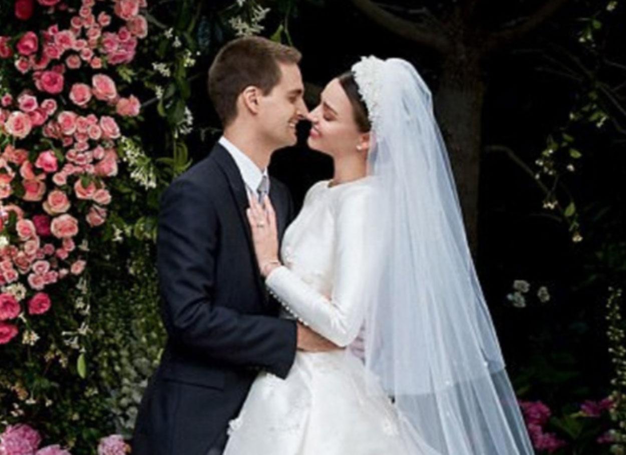 Il matrimonio tra Miranda Kerr ed Evan Spiegel