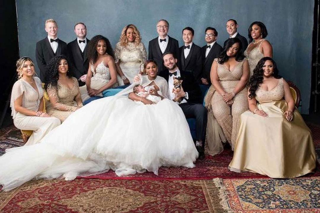 Il matrimonio tra Serena Williams e Alexis Ohanian