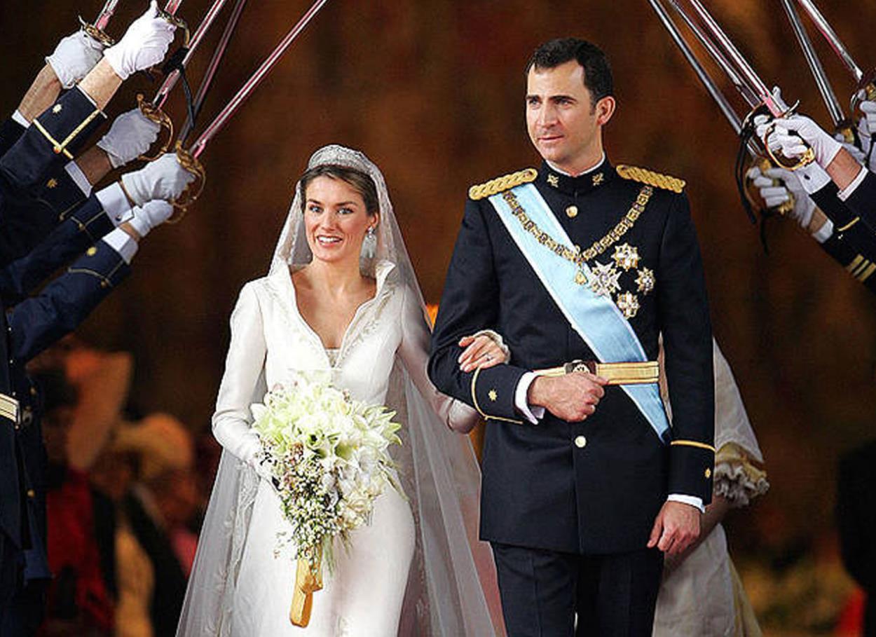 22 Maggio 2004: le nozze reali tra il Principe Felipe di Spagna e Letizia Ortiz