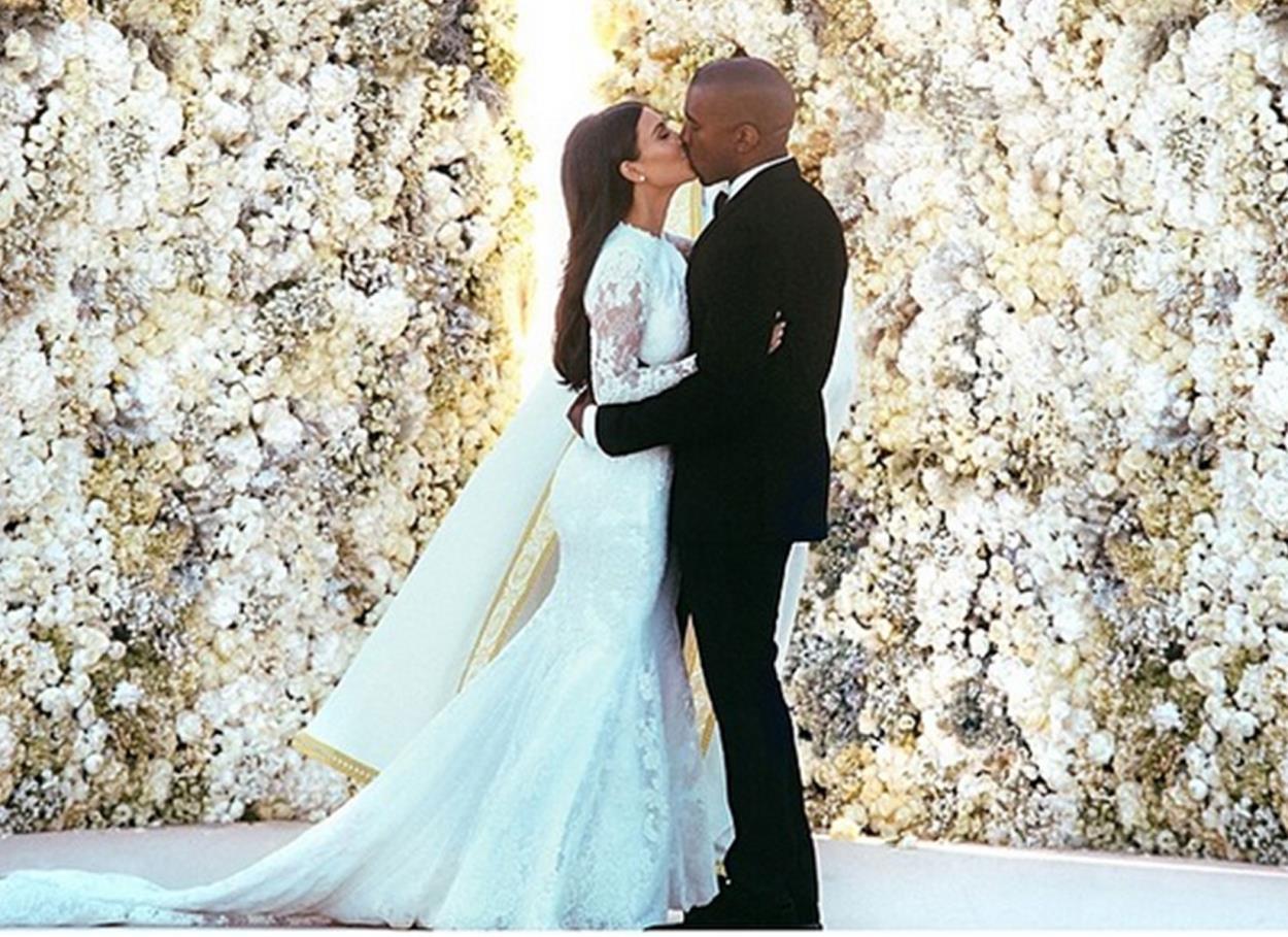 24 maggio 2014: il matrimonio da favola tra Kim Kardashian e Kayne West