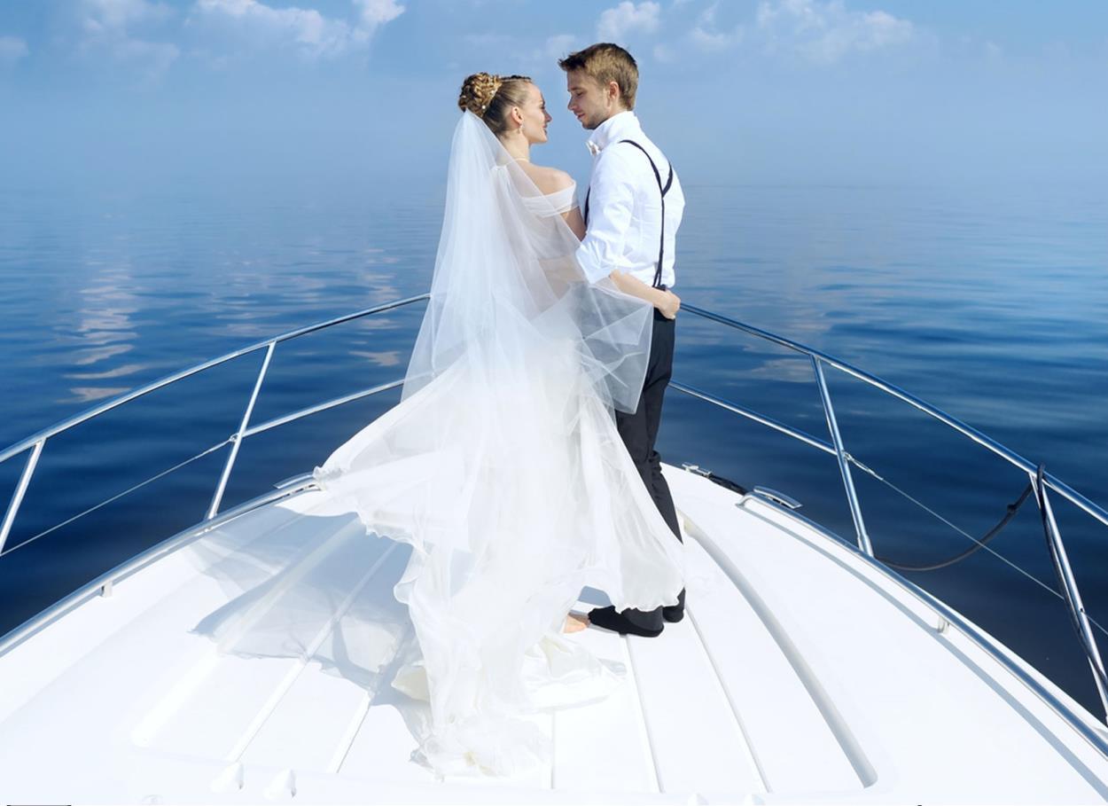 Il matrimonio in barca