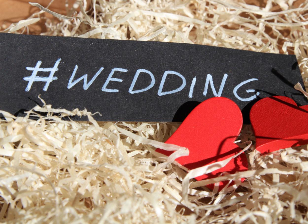 Un hashtag per il tuo matrimonio